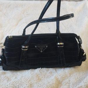 Prada handbag black snake skin